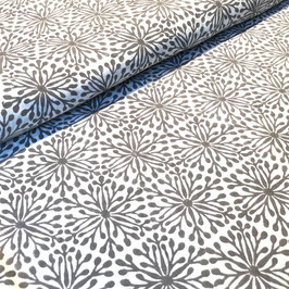 Block Print Fabric ELENA Light Gray  - Starting Price per 0.5 Meter US 8.80