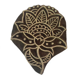 Block Print Stamp Lotus  M 69