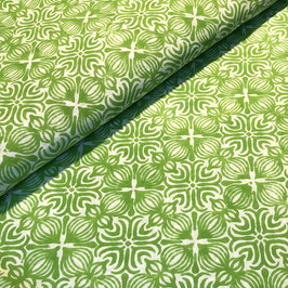 Block Print Fabric LENA Light Green - Starting Price per 0.5 Meter US 8.80