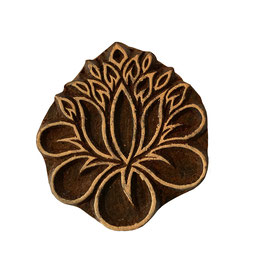 Block Print Stamp Lotus  M 112