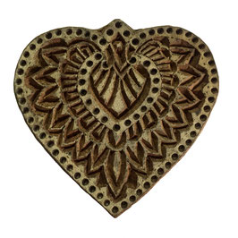Block Print Stamp Heart No. 17