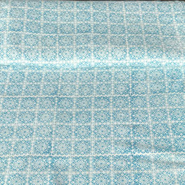 Block Print Fabric JANA Light Blue  - Starting Price per 0.5 Meter US 8.80