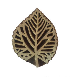 Block Print Stamp Leaf  M 67