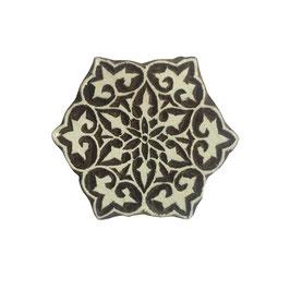 Block Print Stamp  Mandala Star  M 145