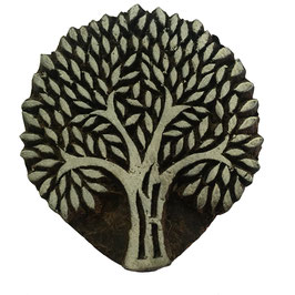 Block Print Stamp Tree No. 35