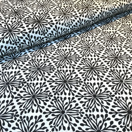 Block Print Fabric ELENA Black  - Starting Price per 0.5 Meter US 8.80