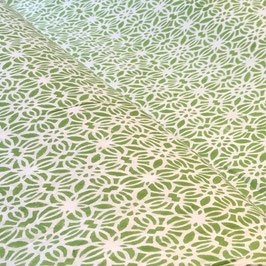 Block Print Fabric MILA Light Green  - Starting Price per 0.5 Meter US 8.80