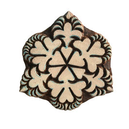 Block Print Stamp Flower Motif  M 173