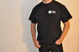 T-Shirt einfach, schwarz, unisex