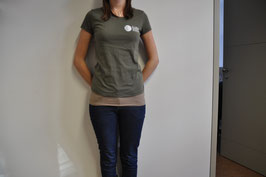 T-Shirt deluxe in khaki