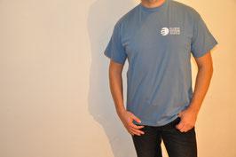 T-Shirt einfach, stahlblau, unisex