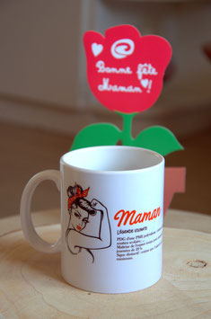 """Les petits prix"" : Mug ""définition maman"""