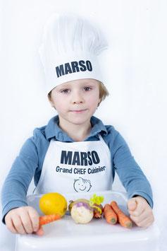 Tablier et toque de cuisinier - enfant