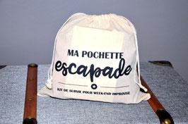Pochon en coton carré (25x25 cm) - Escapade