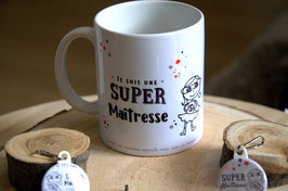 "Mug : ""super maîtresse"" ou ""super maître"""