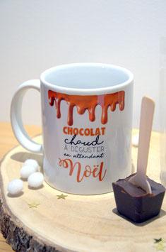 """Mug """"chocolat chaud de Noël"""""""