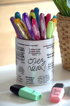 Pot à crayons à personnaliser