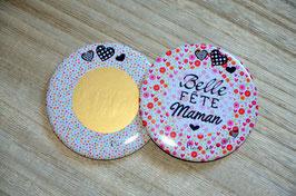 """Magnet à gratter ! """"Belle fête Maman"""" (88 mm )"""