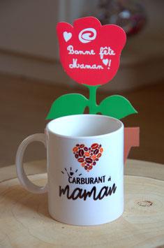 """""""Les petits prix"""" : Mug """"carburant à maman"""""""