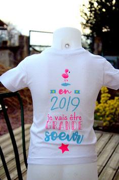 Tee-shirt personnalisé (BLANC)