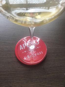 Dessous de verre rond personnalisé 88 mm - Apéro à Nandax (commune à personnaliser si besoin)