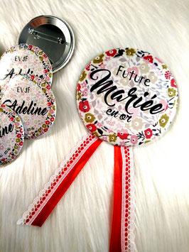 Cocarde pour la future mariée