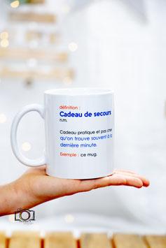 """Mug """"cadeau de secours"""""""