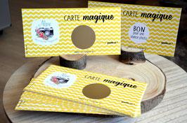 """Carte à gratter """"Bon pour ..."""""""