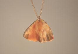 Collier céramique - Pétale orange