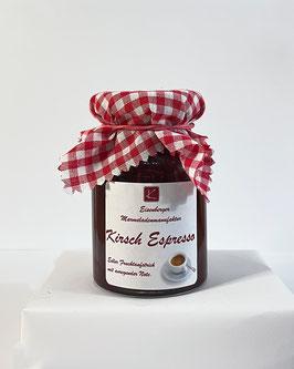 150 Gramm Glas Kirsch Espresso Fruchtaufstrich