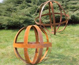 Grande sphère en métal pour déco jardin