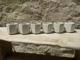 Lot de 6 pots à yaourt en céramique