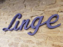 Ancienne enseigne de magasin Linge