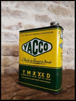 Ancien bidon d'huile YACCO la meilleure huile du monde