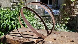 Sphère métallique pour déco jardin