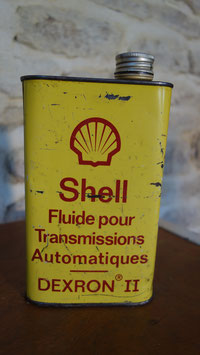 Ancien bidon fluide transmission SHELL