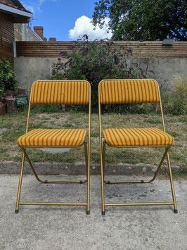 Duo de chaises Lafuma vintage