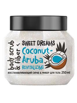Скраб-фибер для тела восстанавливающий Coconut-Aruba, 250 мл, MonoLove bio