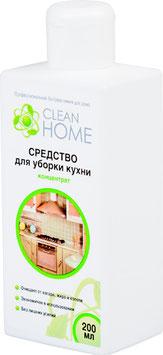 CLEAN HOME Средство для уборки кухни, концентрат Антижир  200мл.