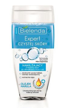 BIELENDA SKIN CLINIC PROFESSIONAL Увлажняющая 2-фазная жидкость для демакияжа глаз и губ с маслом Марула 150мл