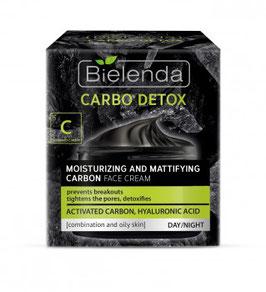 BIELENDA CARBO DETOX  Увлажняюще-матирующий крем с каменным углем для лица дневной/ночной 50мл