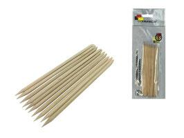 Деревянные палочки для маникюра (10 шт)