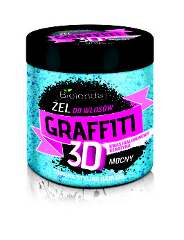 BIELENDA ГРАФФИТИ 3D Гель для волос STRONG (синий ) 250мл