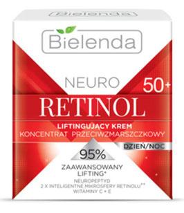 BIELENDA NEURO RETINOL Подтягивающий крем-концентрат против морщин 50+ дневной/ночной 50мл