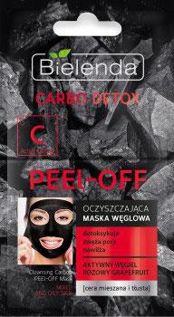 BIELENDA CARBO DETOX Очищающая угольная маска PEEL – OFF 2х6г