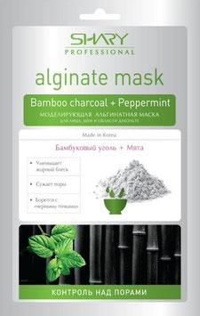 """""""Shary"""" Альгинатная маска для лица, шеи, декольте """"Контроль над порами"""" Бамбуковый уголь"""