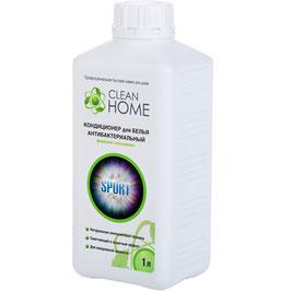"CLEAN HOME Кондиционер для белья антибактериальный формула  Антизапах  1л    """