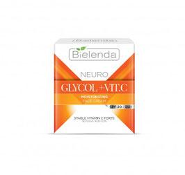 BIELENDA NEURO GLICOL+VIT.C Увлажняющий крем активатор блеска и молодости кожи SPF 20 дн 50мл