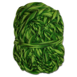 Handgesponnenes Strickgarn  grün-hellgrün