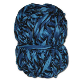 Handgesponnennes Strickgarn blau-anthrazit